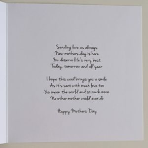 Personalised Mothers Day Card (SKU57)