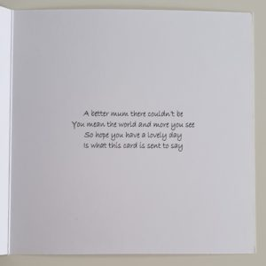 Personalised Mothers Day Card Any Colour (SKU55)