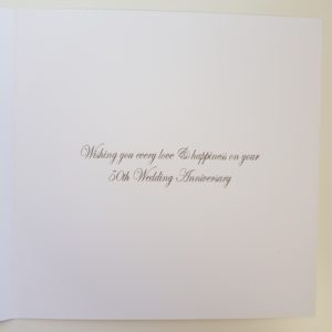 Stunning Personalised 50th Anniversary Card Mum & Dad Any Couple Year or Colour (SKU24)