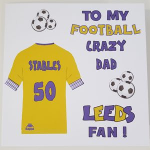 Personalised 50th Birthday Card Football Crazy Dad Any Team, Person, Age Or Sport (SKU22)