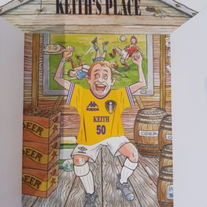 Personalised 50th Birthday Card Husband Garden Shed Football Theme Any Person Or Team (SKU23)