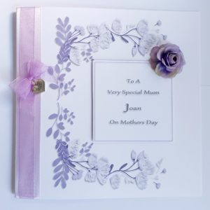 Personalised Luxury Boxed Mothers Day Card Any Colour (SKU34)
