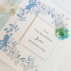 Personalised Luxury Boxed Mothers Day Card Any Colour (SKU33)