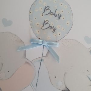 Personalised Thank you New Baby Grandson Or Granddaughter Card Additional Big Sister Or Big Brother Option (SKU31)