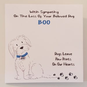 Bereavement Sympathy Card Loss of Pet Dog Maltese Terrier Any Breed Any Animal