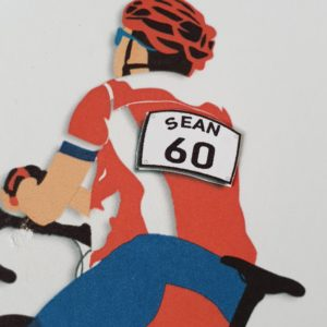 Personalised Birthday Card 60th Birthday Friend Racing Bike Cyclist Husband Son Dad Brother In Law Any Age Or Person