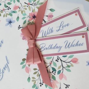 Personalised Floral Design Birthday Card Special Sister Any Relation Or Occasion (SKU13)
