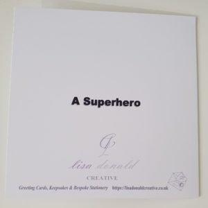 Personalised Nurse Superhero Retirement Card Any Colour (SKU15)