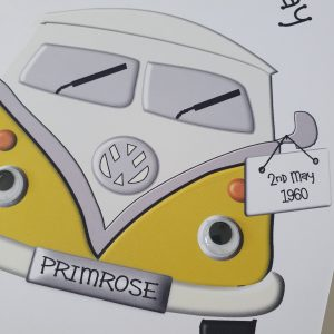 Personalised VW Camper 60th Birthday Card Any Age Or Colour (SKU17)