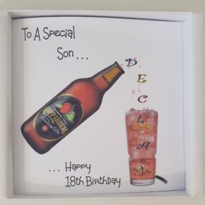Personalised 18th Birthday Card Son Any Age (SKU20)