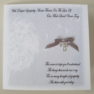 Personalised Sympathy Card On The Loss of Your Uncle Any Relative (SKU19)