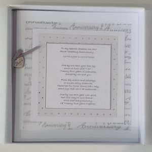 Personalised Card 25th Wedding Anniversary Husband Any Year (SKU11)