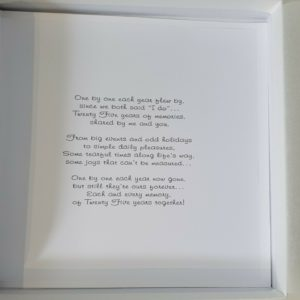 Personalised Card 25th Wedding Anniversary Husband Any Year (SKU10)