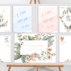 Pretty Notelets & Envelopes Just To Say – Pack Of 20 Available In 2 Sizes With 16 Different Designs To Choose From All Same Or Mixed Pack