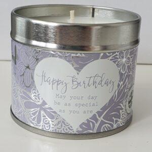 Beautiful Happy Birthday Soy Based Tinned Candle (SKU638)