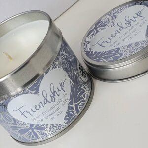 Beautiful Friendship Soy Based Tinned Candle (SKU637)