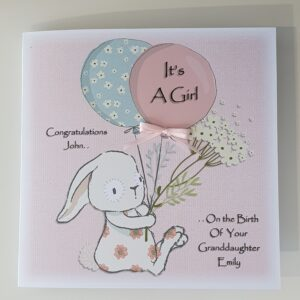 Personalised New Baby Girl Boy Congratulations On Your Baby Granddaughter/Grandson (SKU626)