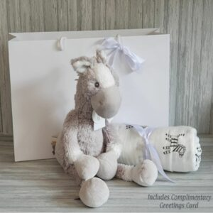 Horse Harper Soft Toy & Swaddle Baby Gift / Children's Gift Set & Complimentary Greeting Card (SKU622)