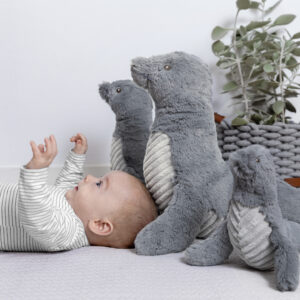 Sydney Seal Plush Toy & Swaddle Baby Gift / Children's Gift Set & Complimentary Greeting Card (SKU607)