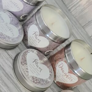 Beautiful Happy Birthday / Mum / Daughter Soy Based Tinned Candle (SKU638)