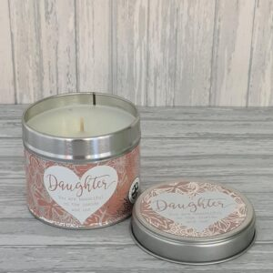 Beautiful Happy Birthday / Mum / Daughter Soy Based Tinned Candle (SKU638) – Daughter