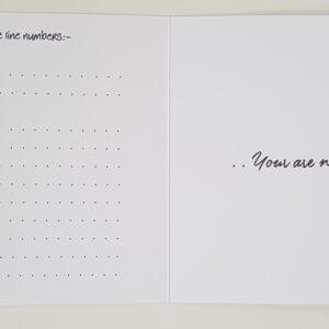 Personalised Positivity Wellness Card Mental Awareness Theme (SKU412)