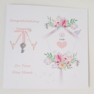 Personalised New Home Moving House Card Any Person Or Colour (SKU416)