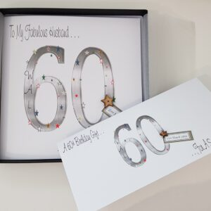 Personalised 60th Birthday Card Husband Any Relation Or Age (SKU418)