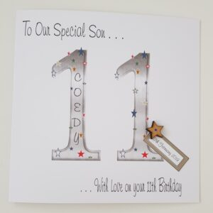 Personalised 11th Birthday Card Son Any Relation, Age Or Colour (SKU417)