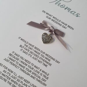 Personalised Wedding Card – Postponed Wedding – On What Would Have Been Our Wedding Day Bride Or Groom Any Colour (SKU571)