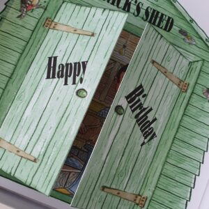Personalised Green Garden Shed Birthday Card Friend Any Person Relation Or Age (SKU375)