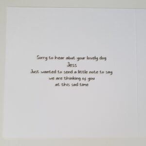 Bereavement Sympathy Card Loss of Pet Dog Westie West Highland Terrier Any Breed Or Animal (SKU393)
