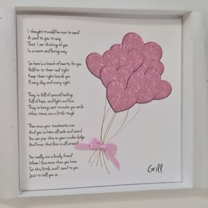 Personalised Get Well Card Suitable For Cancer Patients Friend Any Person Or Colour (SKU509)