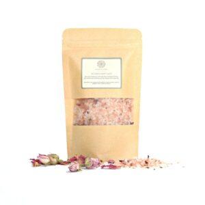 De Stress Aromatherapy Bath Salts Blend   Pink Himalayan Salts with Chamomile  Ylang Ylang  Lavender  Bergamot   Handmade  100% Natural   Cruelty Free   Vegan Friendly (SKU584)