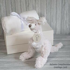 Kangaroo Kayo & Swaddle Baby Gift / Sibling Gift Set & Complimentary Greeting Card (SKU593)