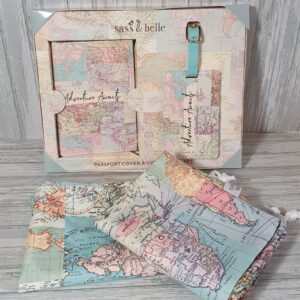 Perfect Gift For Him Birthday, Fathers Day Or Christmas – Vintage Map Travel Set (SKU565)