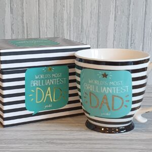 Perfect Present For Dad, Mug, Notebook, Bamboo Socks and Sweet Treat With Gift Bag & Card (SKU566)