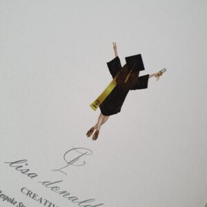 Personalised Graduation Card  Any Skin Tone  Any Colour Cap & Gown  Any Hair Style Or Colour Sash – Male Or Female (SKU560)