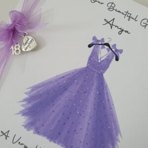 Personalised 18th Birthday Card Granddaughter Any Person Age Or Dress Colour (SKU558)