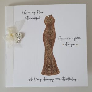 Personalised 18th Birthday Card Granddaughter Any Person Age Or Dress Colour (SKU557)