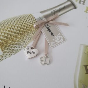 Personalised Prosecco 60th Birthday Card Wife Any Relation, Bottle Or Age (SKU431)