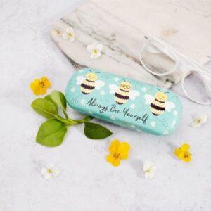 Bee Happy Gift Set – Mug, Glasses Case, Key Ring & Honeycomb Sweet Treats (SKU563)