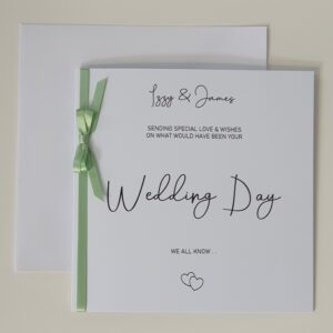 Personalised Wedding Card – Postponed Wedding – On What Would Have Been Your Wedding Day – Any Couple / Colour (SKU434)