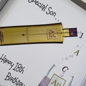 Personalised AU Vodka Birthday Card Son Any Relation, Age Or Tipple (SKU435)