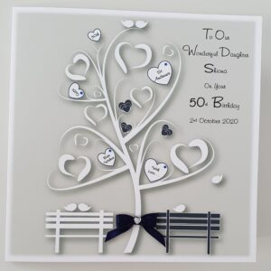 Personalised 50th Birthday Card Daughter Any Person, Year Or Colour (SKU450)