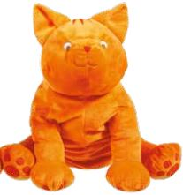 Giant Dikkie Dik Cat Plush Toy . . . . This Friendly Guy Is A Precious Colourful Plushie To Keep Forever (SKU555)