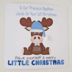 Personalised 1st Christmas Card Nephew Grandson Granddaughter Any Relation (SKU439)