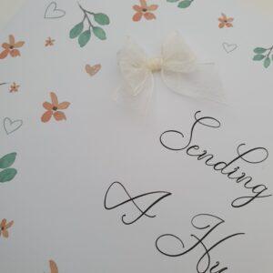 Personalised Sending A Hug Card Positivity Theme (SKU1016)