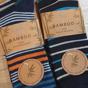 Natural Bamboo Socks Pack Of 3 From The Pierre Rochet Premium Collection Birthday Christmas Gifts Dad Husband Grandad Brother Son (SKU1110)