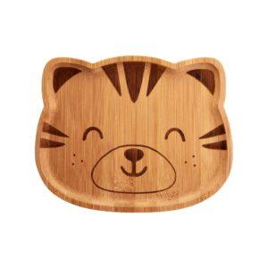 Savannah Safari Tiger Bamboo Tableware Set Plate and Spoons Baby Gift (SKU1122)